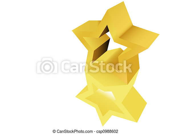Gold Star Award Sculpture Statue - csp0988602