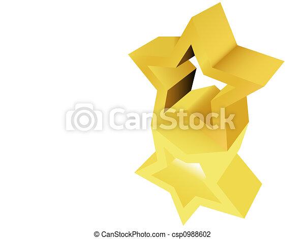 Gold Star Award Sculpture Statue - csp0988602