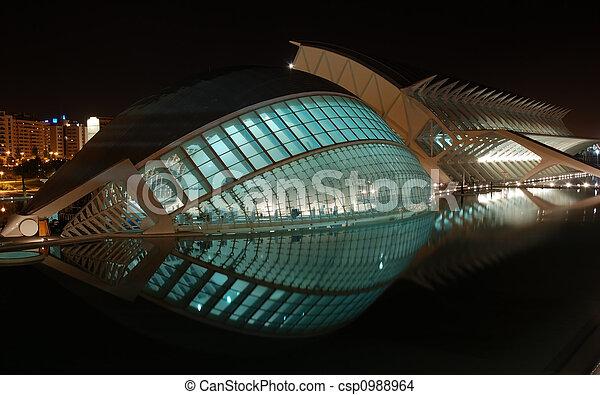 Modern Architecture in Valencia, Spain - csp0988964