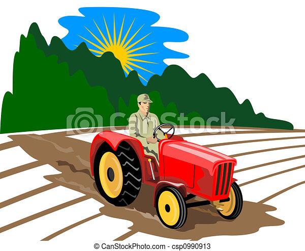 , tractor - Ilustración, agricultura csp0990913 - Buscar Clipart ...