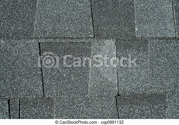 Black asphalt roofing shingles background - csp0991132