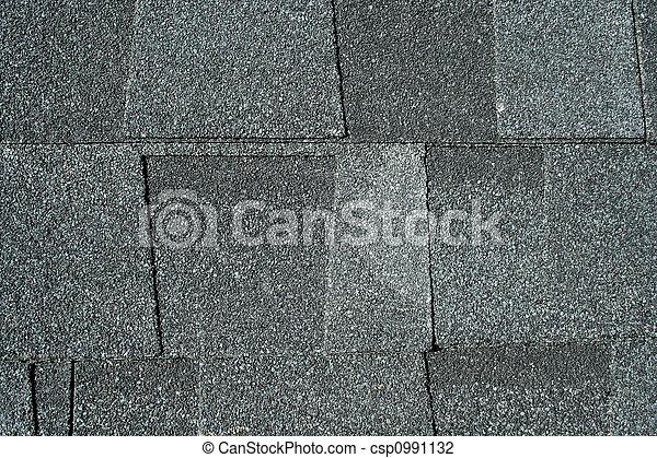 Black asphalt roofing shingles background - csp0991132