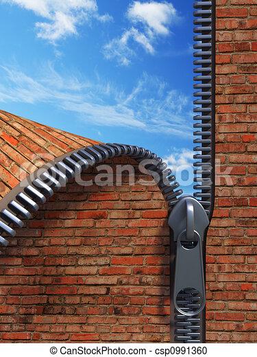 unzip brick wall - csp0991360