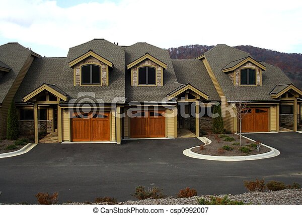 Row Of Town Homes - csp0992007
