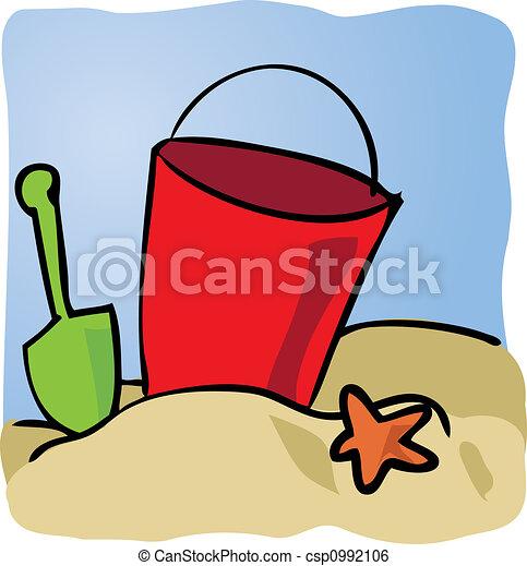 Seaside beachbucket - csp0992106