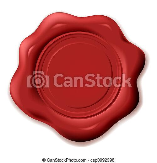 realistic wax seal - csp0992398