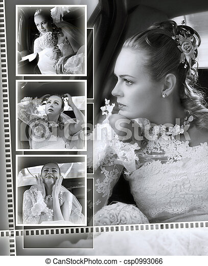 Brides wedding album montage - csp0993066