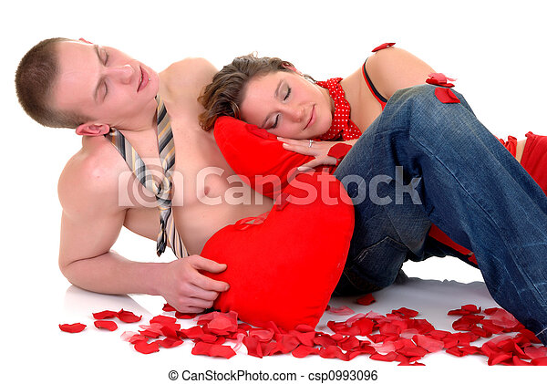 Valentine love, young adults - csp0993096