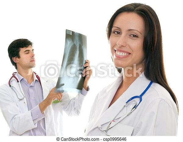 關心, 醫學的健康, 友好, 醫生 - csp0995646