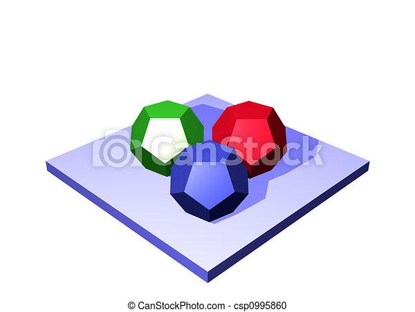 Raw Materials a Logistics Supply Chain Diagram Object - csp0995860
