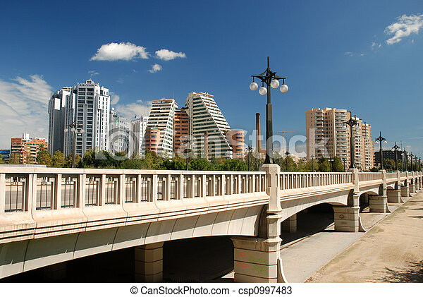 Bridge in Valencia, Spain - csp0997483