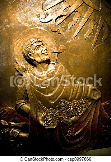 Guadalupe Mexico Statue  - csp0997666