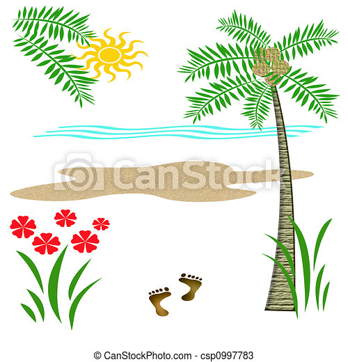 tropic beach vacation - csp0997783
