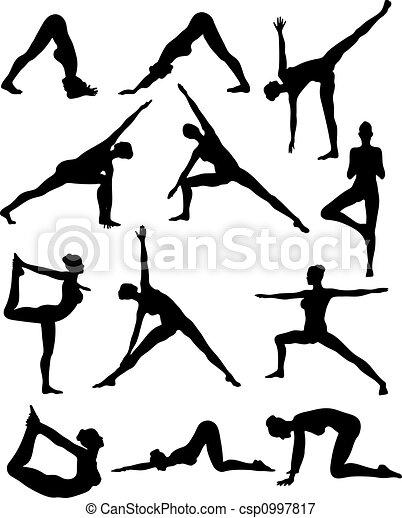 Sexy Yoga Silouettes - csp0997817