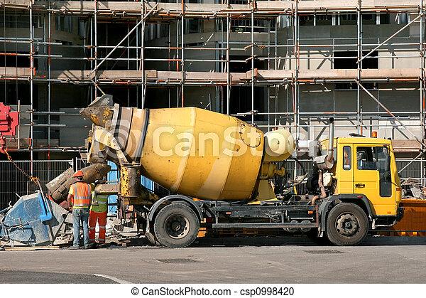 Cement Mixer Truck - csp0998420