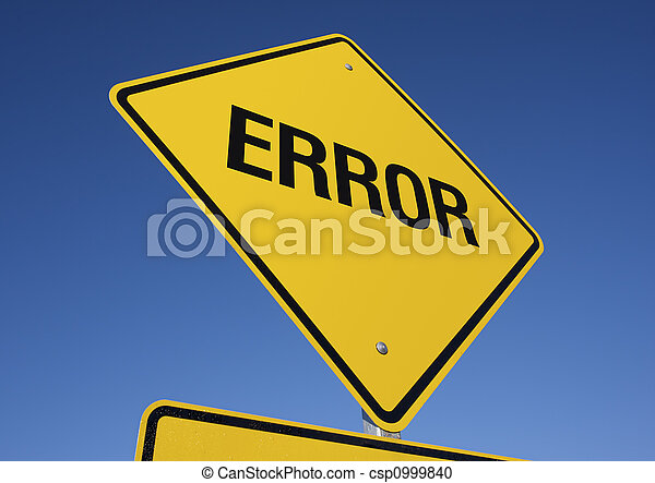 Error road sign  - csp0999840