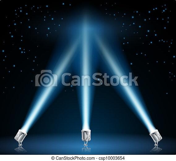Searchlights or spotlights illustration - csp10003654