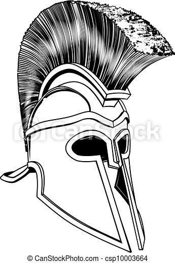 Monochrome Corinthian helmet - csp10003664