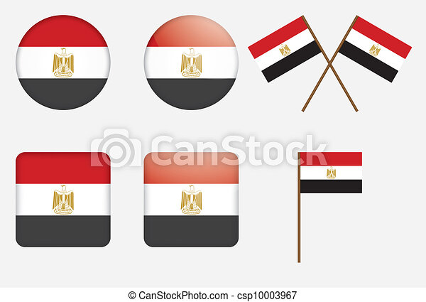 badges with flag of Egypt - csp10003967