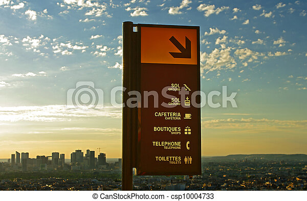 Here down, a technological civilization, Paris, Eiffel Tower - csp10004733
