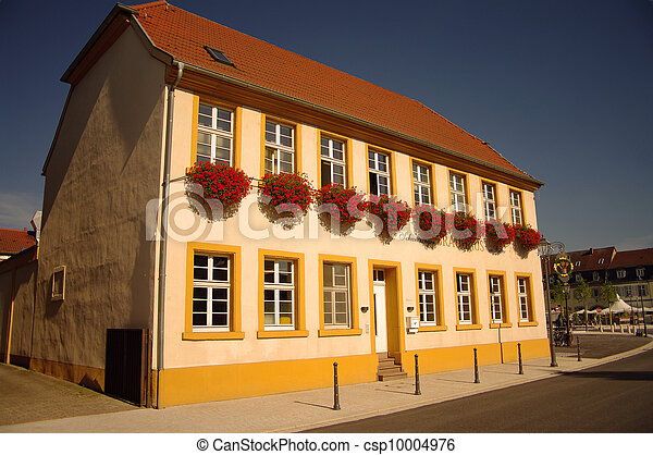 A traditional german house in Schwetzingen, nearby Heidelberg - csp10004976