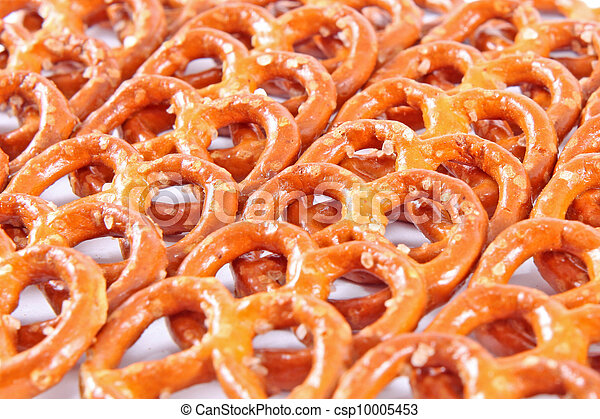 Background from salted fresh pretzels  - csp10005453