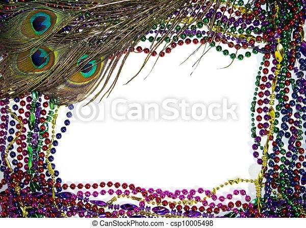 Mardi Gras Peacock Feathers - csp10005498