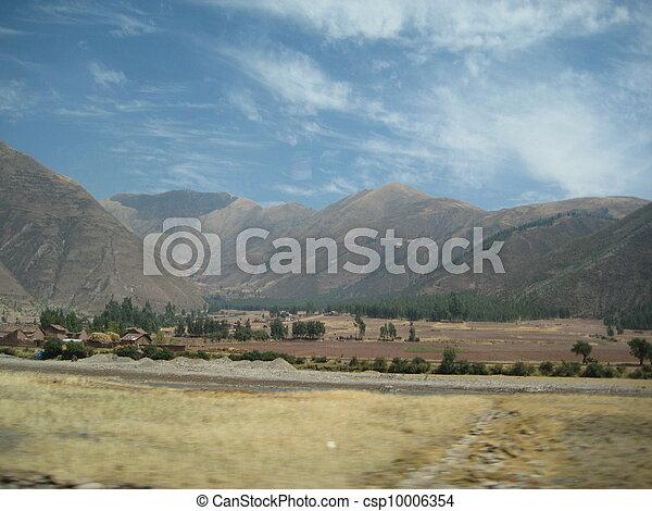 Mountain massif along the roadside - csp10006354
