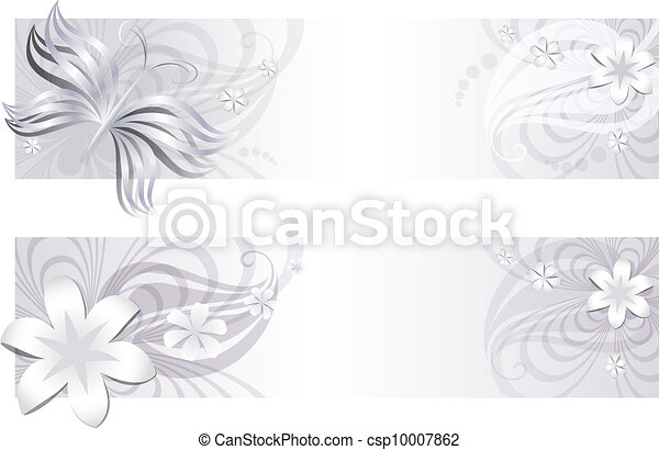 Delicate 	Flower banners - csp10007862