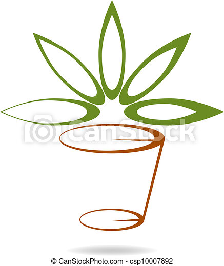Florist / decor company logotype - csp10007892