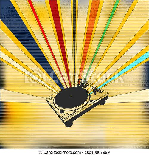 DJ Record Deck Poster - csp10007999