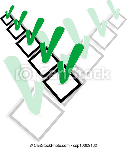 Check list symbol with ok sign. Vector illustration - csp10009182