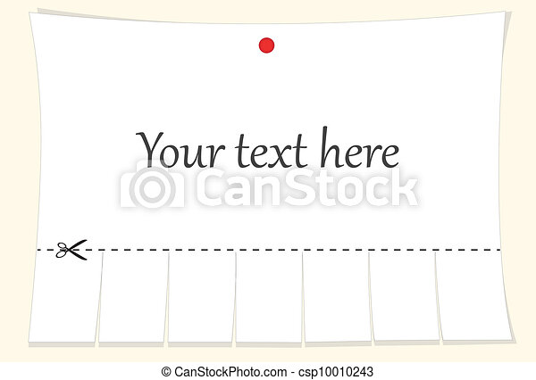advertisement with cut slips - csp10010243
