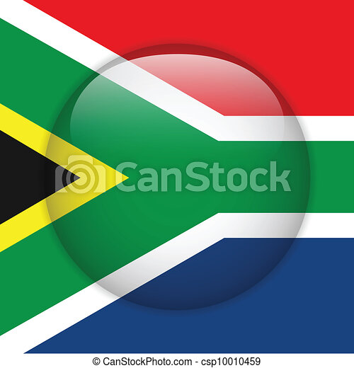 South Africa Flag Glossy Button - csp10010459