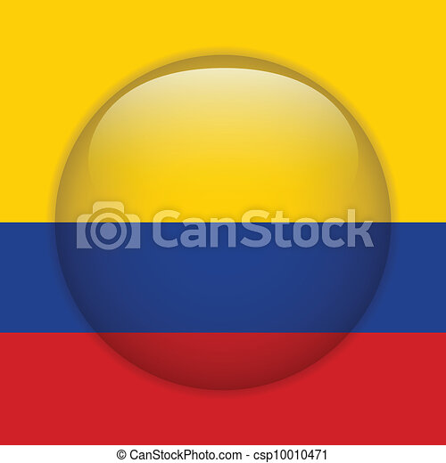 Colombia Flag Glossy Button - csp10010471