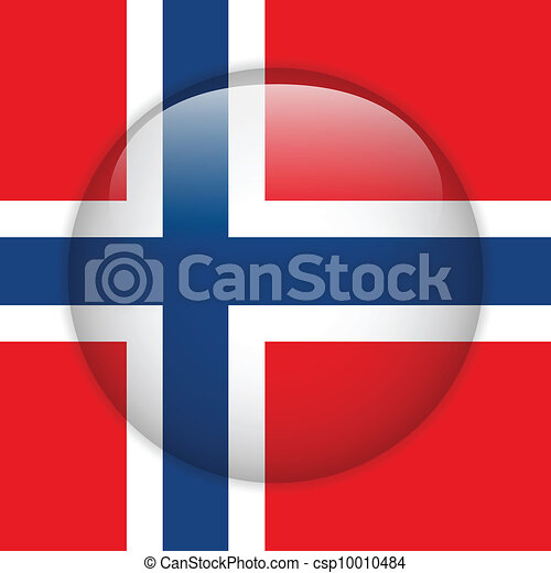 Norway Flag Glossy Button - csp10010484