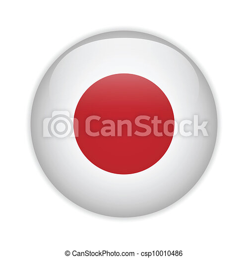 Japan Flag Glossy Button - csp10010486
