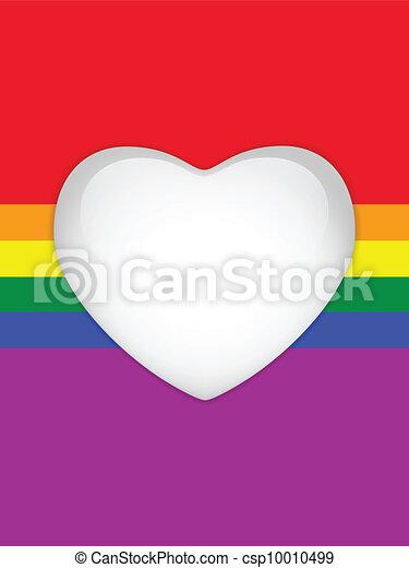 Heart Glass Buttons Gay Flag - csp10010499