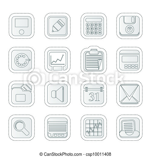 clipart vecteur de business finance bureau ic nes business bureau et csp10011408. Black Bedroom Furniture Sets. Home Design Ideas