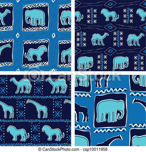 Africa-themed seamless patterns - csp10011958