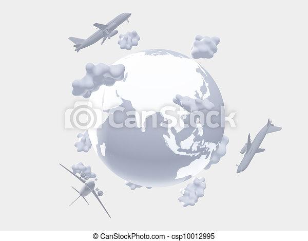 Air travel - csp10012995