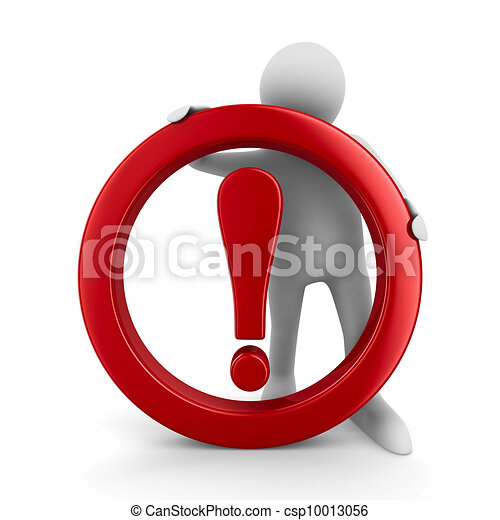 Attention. traffic sign on white background. Isolated 3D image - csp10013056