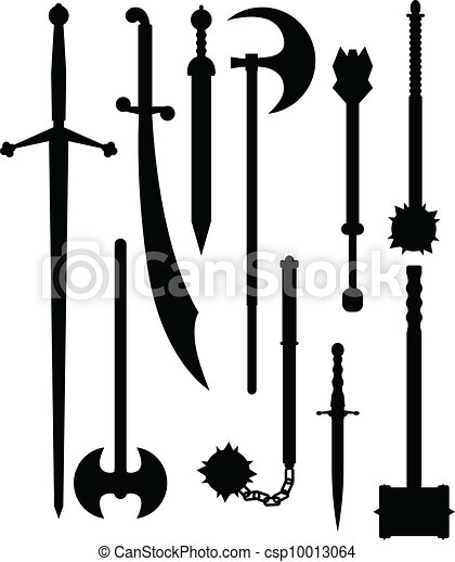 Weapons of antiquity silhouettes - csp10013064