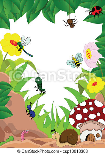 illustration of a family of insects - csp10013303