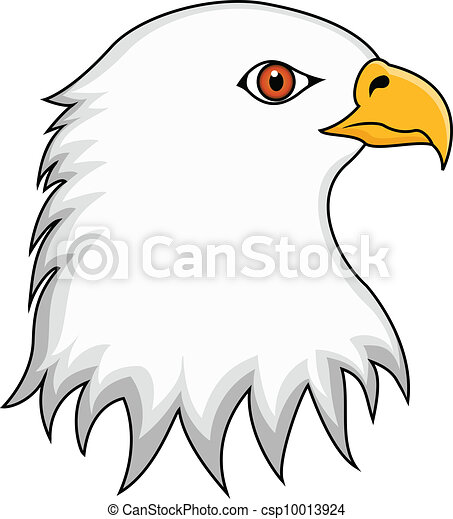 Vector Illustration of Eagle Head - vector illustration of ... American Eagle Clipart Black And White