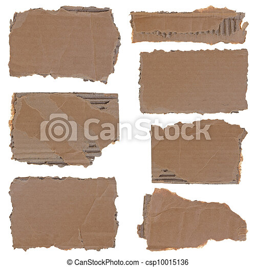 Torn cardboard pieces set - csp10015136