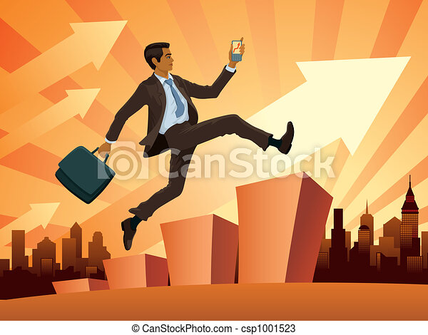 Businessman in a hurry - csp1001523