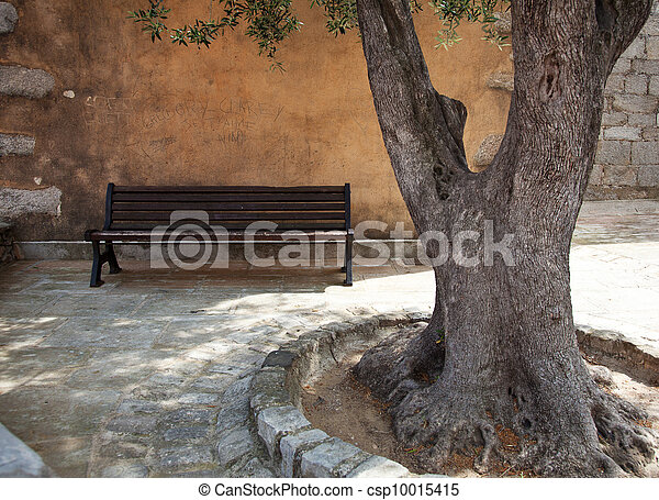 Idyllic street scenery  - csp10015415