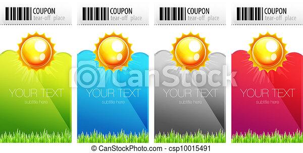 Tear-off nature coupons - csp10015491