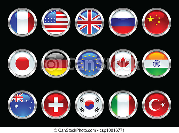 Glossy World Flags - csp10016771